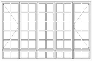 Picture of BD5229/G Small Pane 2690W X 1765H