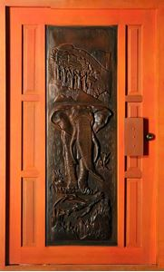 Picture of Elephant Pivot Door Pre-Hung 1200 X 2032