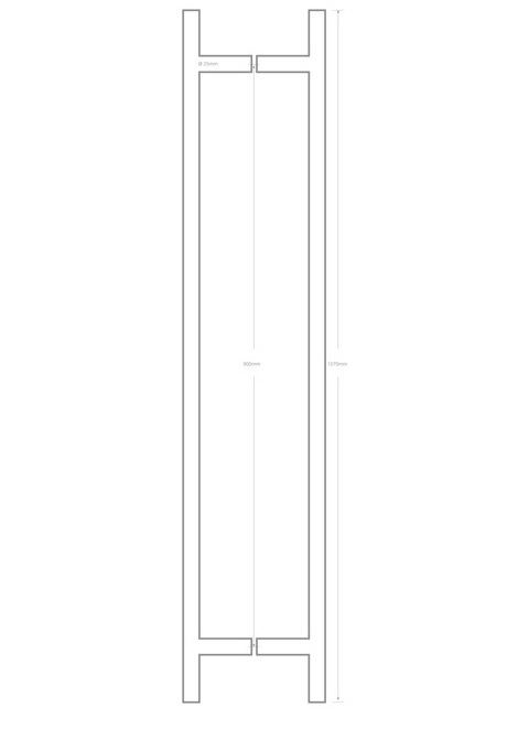 Picture of T handle 25x900X1070 QS2508BTB