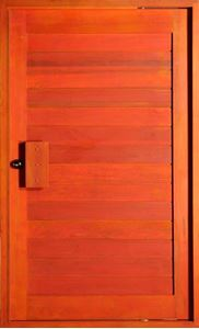 Picture of Hardwood Horizontal Slatted Pivot Door Pre-Hung 1200 X 2032