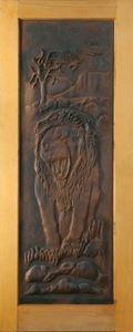 Picture of Lion Carved Door 813 X 2032