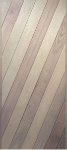 Picture of Semi Solid Diagonal Slatted Meranti Door 813 X 2032