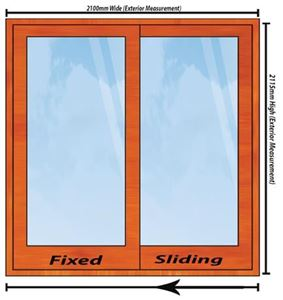 Picture of 2100mm Wide Full Pane Slider LHF