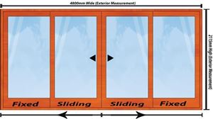 Picture of 4800mm Wide Full Pane Slider 4 Door