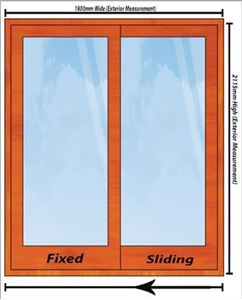 Picture of 1800mm Wide Full Pane Slider LHF