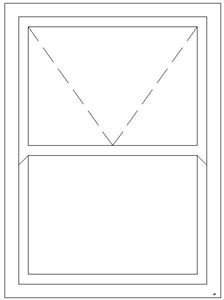 Picture of 1200W X 1500H Full Glass Mock Sash Window