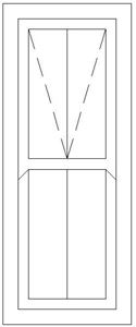 Picture of 600W X 1500H Victorian Mock Sash Window