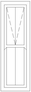 Picture of 600W X 2100H Victorian Mock Sash Window