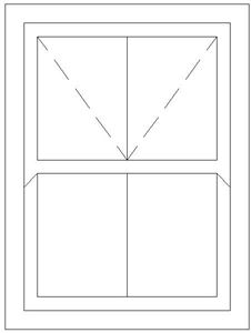 Picture of 900W X 1200H Victorian Mock Sash Window