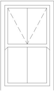 Picture of 900W X 1500H Victorian Mock Sash Window
