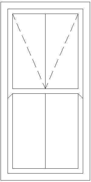 Picture of 900W X 1800H Victorian Mock Sash Window