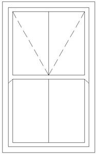 Picture of 1200W X 2100H Victorian Mock Sash Window