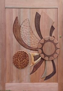 Picture of Meranti Sunray Hand Carved Pivot