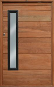 Picture of Horizontal Slatted with Aluminium Glass Panel