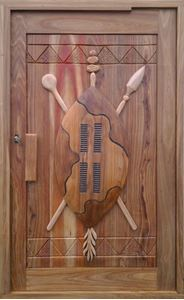 Picture of Shield Hand Carved Meranti Pivot