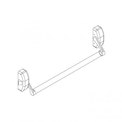 Picture of QS400/3 Stainless Steel Push bar