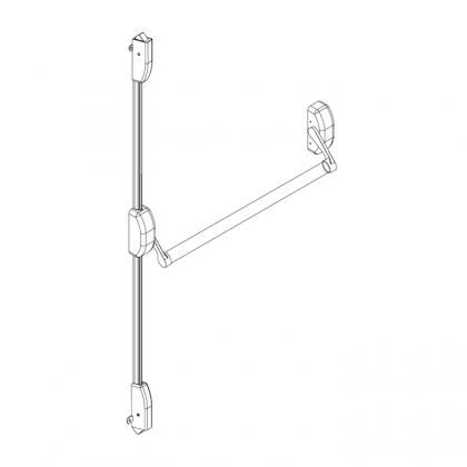 Picture of QS400/2 Stainless Steel Push bar