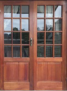 Picture of Pair of Small Pane top solid bottom doors 1613 x 2032