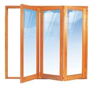 Picture of 2100mm 3 Door Full Pane Folding Unit RHS