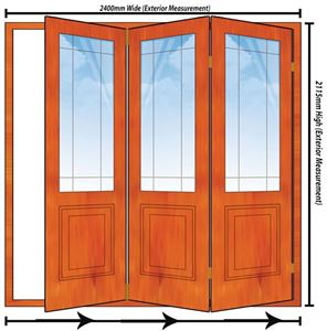 Picture of 2400mm 3 Door Happy Door Folding Unit RHS