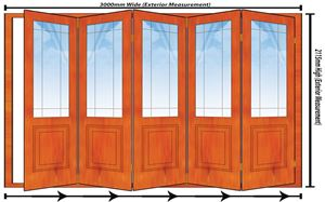 Picture of 3000mm 5 Door Happy Door Folding Unit RHS