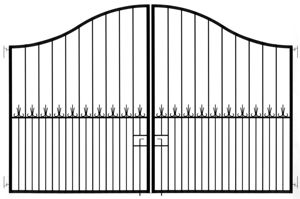 Picture of Black Driveway Gate 3000mm x 2000mm